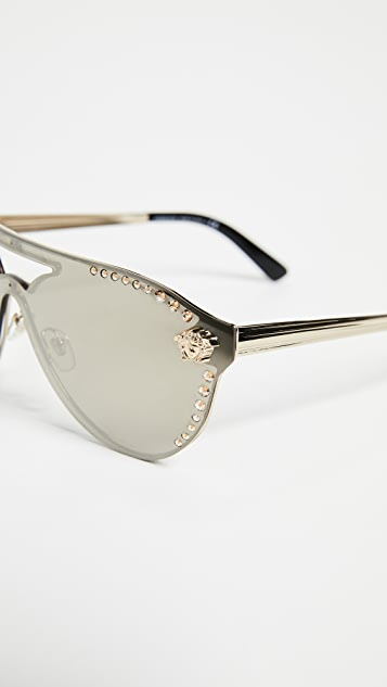 Versace Shield Aviator Sunglasses
