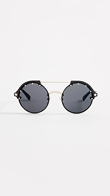 22dd1e0e17aa Versace VE4337 Round Aviator Sunglasses | SHOPBOP