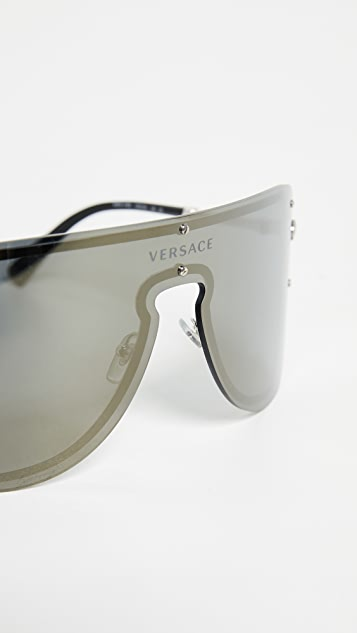 Versace Oversized Shield Sunglasses
