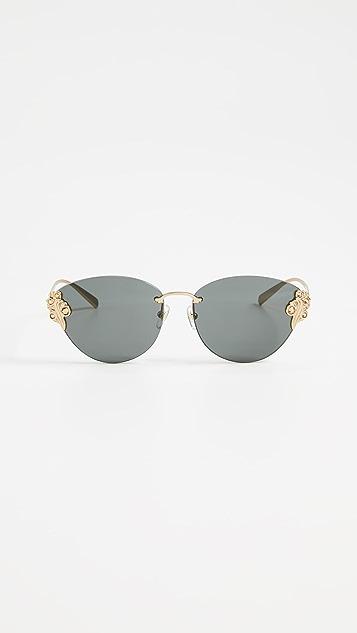 60d8ba2ebe52 Versace Rimless Sunglasses