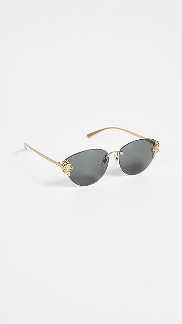 Versace Rimless Sunglasses