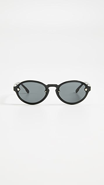 Versace VE4352 Skinny Oval Sunglasses