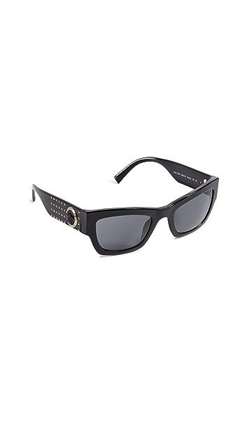 Versace VE4358 Rock Icons Studded Cat Eye Sunglasses
