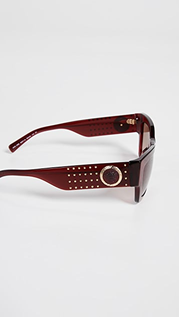 Versace Rock Icons Studded Sunglasses