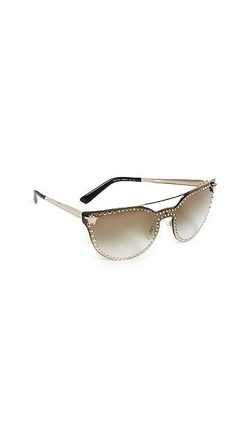 Versace VE2177 Medusa Aviator Gradient Sunglasses