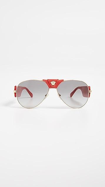 Versace VE2150Q Barocco Aviator Sunglasses