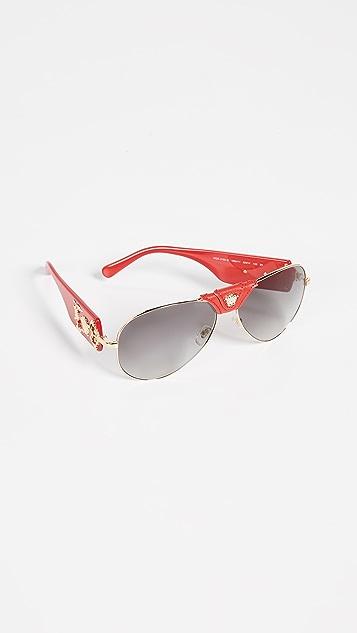 Versace Barocco Aviator Sunglasses
