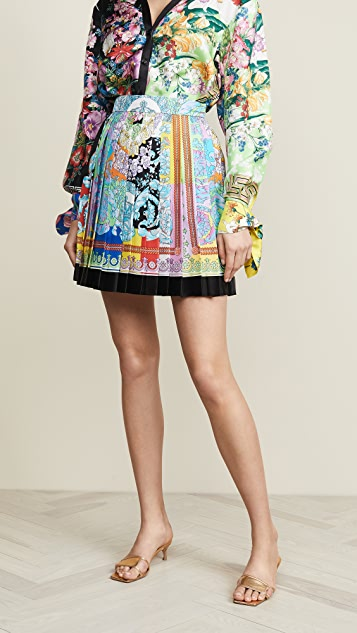 Versace Pleated Miniskirt