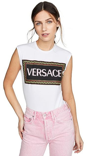 Versace 徽标 T 恤