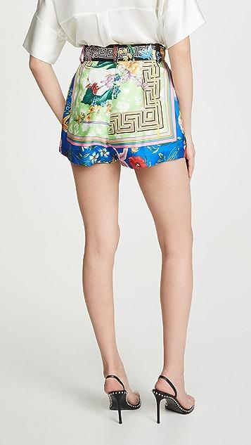 Versace Graphic Print Shorts