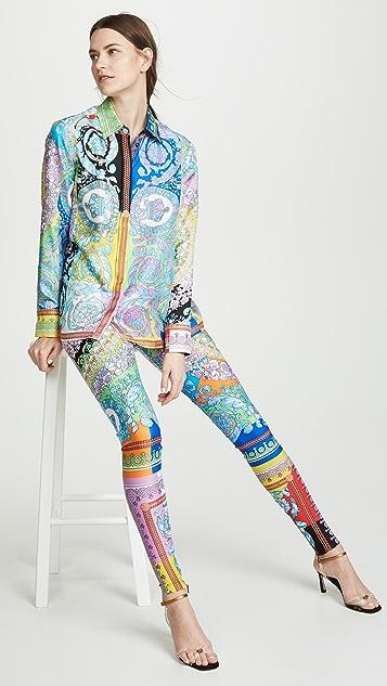 Versace Леггинсы Technicolor в стиле барокко
