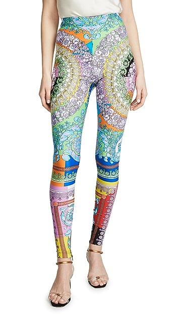 Versace Technicolor Baroque Leggings