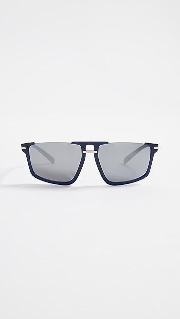 Versace VE4363 Rimless Flat Top Sunglasses