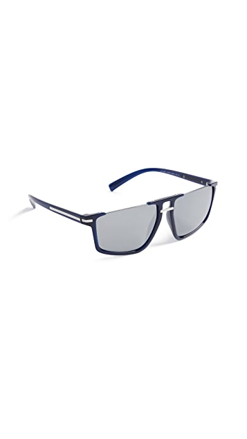 Versace VE4363 Rimless Flat Top Sunglasses
