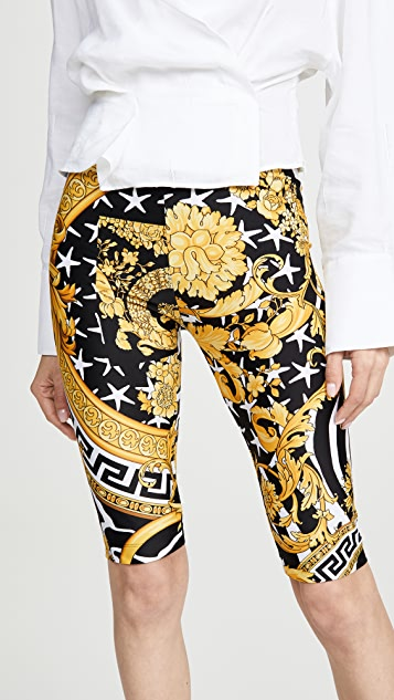 Versace Printed Bike Shorts