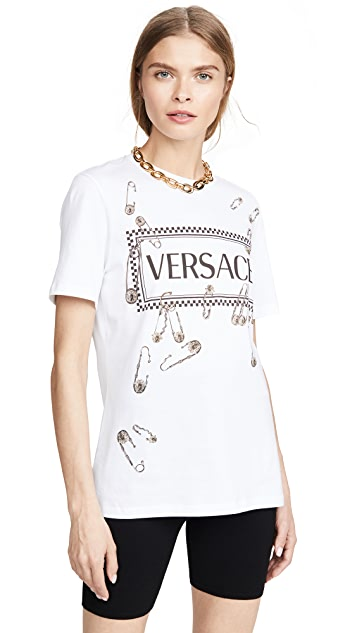 Versace Safety Pin Logo T-Shirt