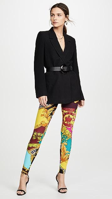 Versace Леггинсы с принтом