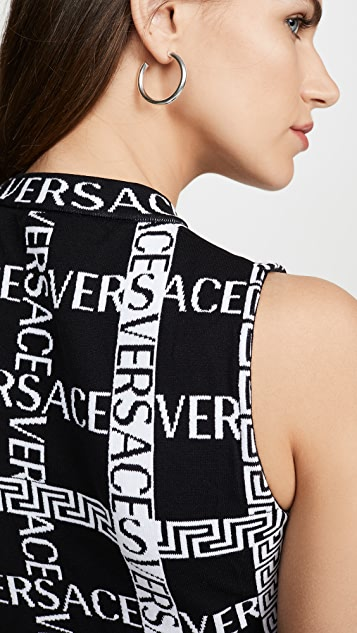 Versace Logo Sleeveless Sweater