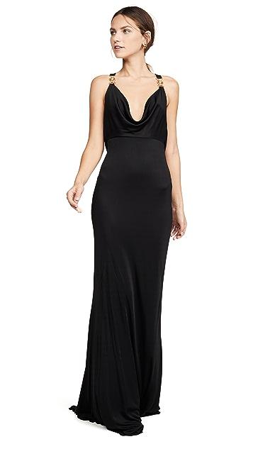 Versace Вечернее платье с золотой фурнитурой