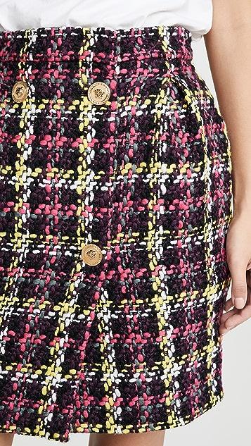 Versace 格子迷你裙