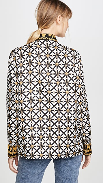 Versace Printed Button Down Shirt
