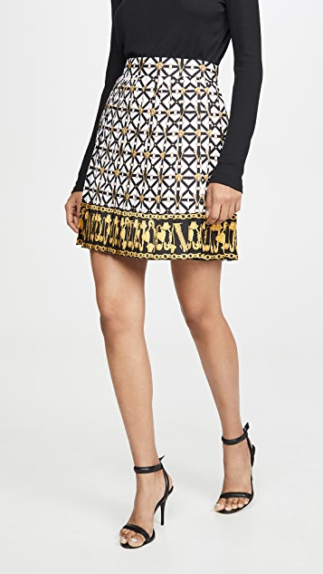 Printed Miniskirt by Versace