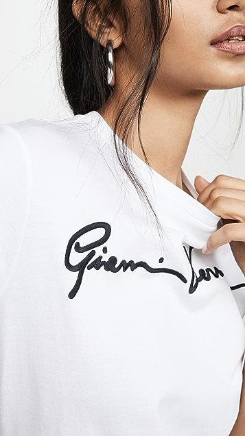 Versace T 恤 Donna Bio + Ricamo