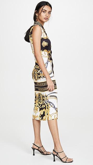 Versace 平针织连衣裙