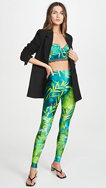 Versace Palm Print Leggings