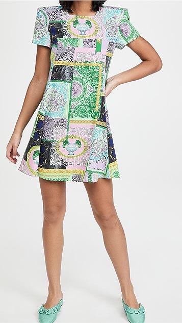 Versace Barocco Matchwork 迷你连衣裙