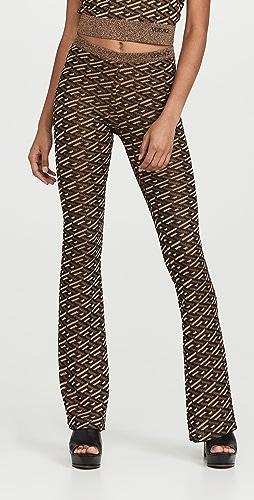 Versace - 金属色针织裤