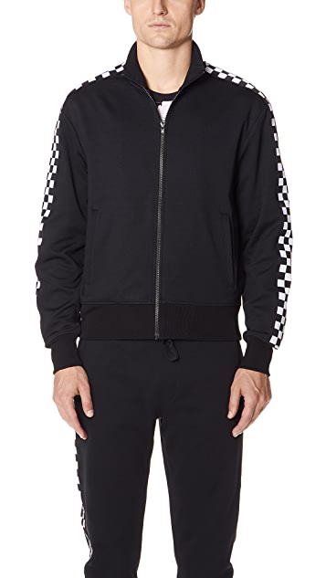 Versus Versace Checkerboard Taped Track Jacket