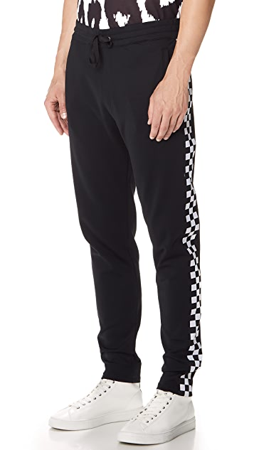 Versus Versace Checkerboard Taped Sweatpants