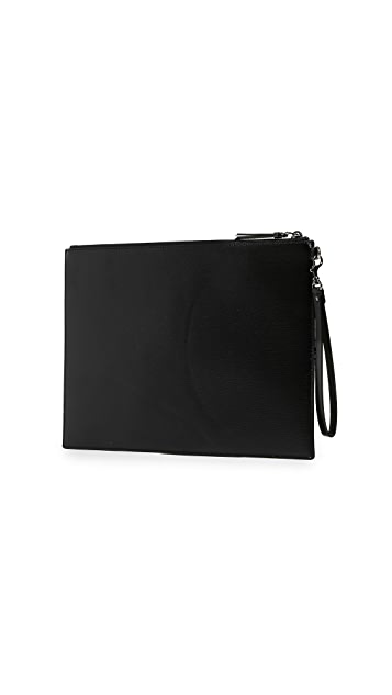 Versus Versace Embellished Leather Large Pouch