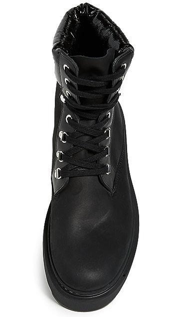 Versus Versace Suede Platform Lace Up Boots