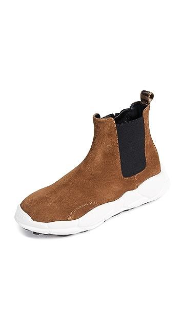 Versus Suede Sneaker Boots