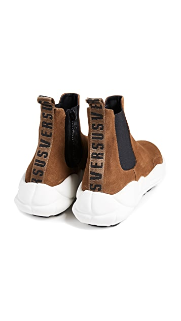 Versus Versace Suede Sneaker Boots