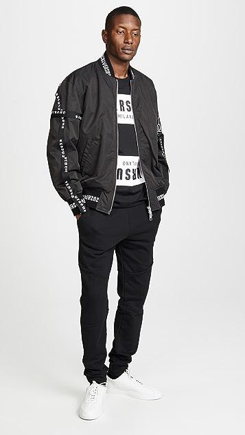 Versus Versace Logo Tape Bomber Jacket