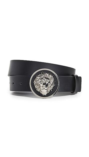 Versus Versace Logo Plaque Belt
