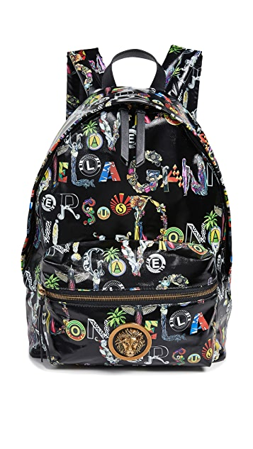 Versus Versace Print Backpack