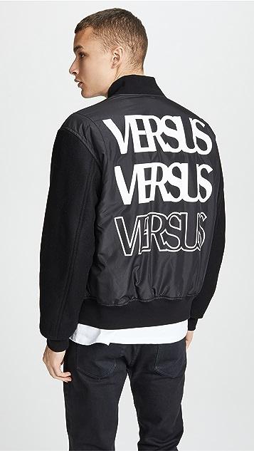Versus Versace Repeater Logo Bomber