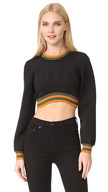 021891bf58f5bc Versus Crop Top Sweatshirt
