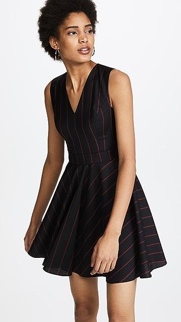 Versus Woven Pinstripe Dress