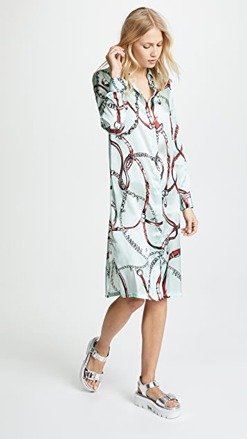 Printed Collared Dress by Versus