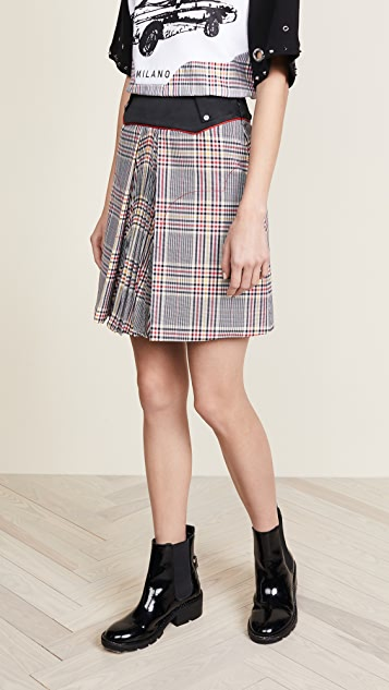 Versus Plaid Miniskirt