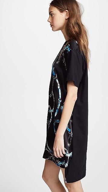 Versus Patterned T-Shirt Dress