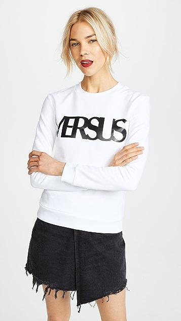 Versus Versus Logo Crew Neck Sweatshirt