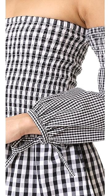 VETIVER Brigitte Long Sleeve Shoulder Top