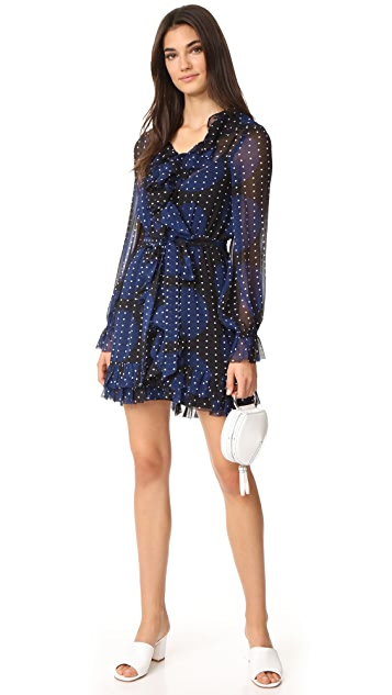 VETIVER Fool in the Rain Ruffle Mini Dress