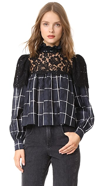 VETIVER Communication Breakdown Blouse